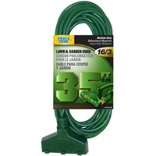 Power Zone OR605627 Ground Triple Tap, 35', Green