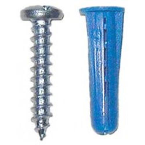 Midwest 10410 Plastic Conical Anchors With Screw, 6-8X3/4