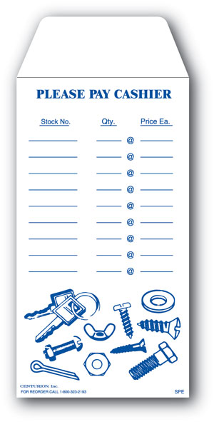 Centurion SPE Small Parts Envelope, White