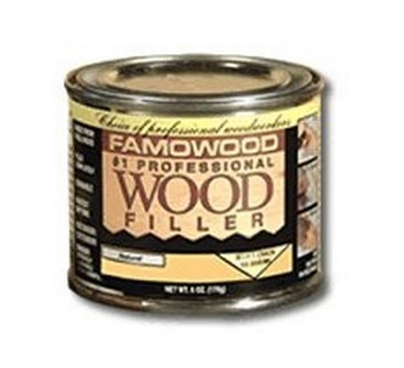 Famowood 36021130 Solvent Based Wood Filler, Pint