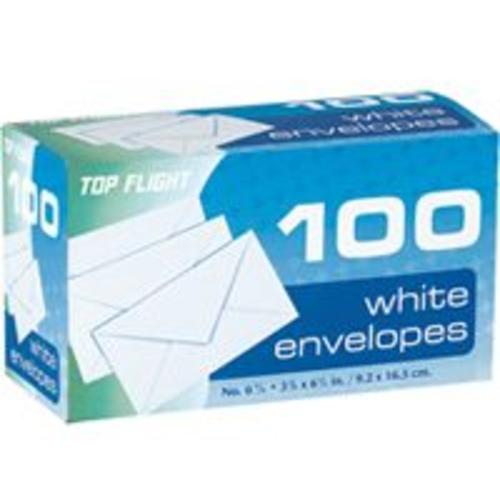 Top Flight 1710 Plain Envelopes 3-5/8''x6-1/2'', White