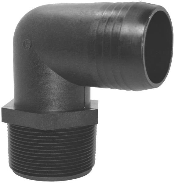 "Green Leaf  EL 3838 P Threaded Poly Elbow, 3/8"" mpt x 3/8"" barb"