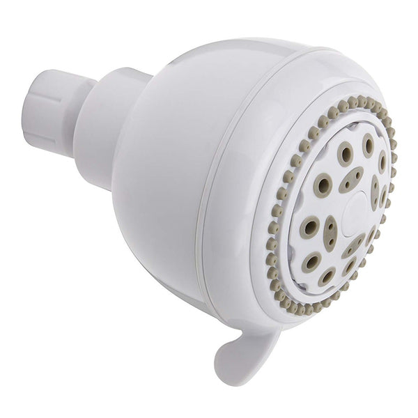"Plumb Pak K701WH Stylewise 5 Function Shower Head, 3.35"", White"