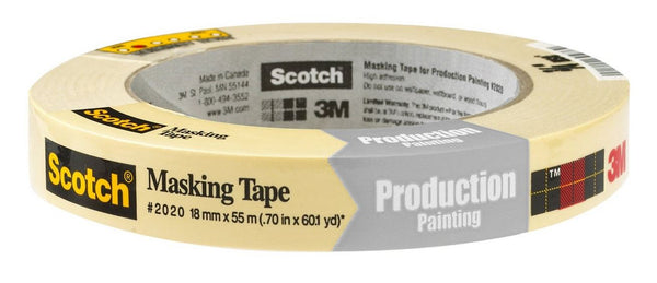 "Scotch 2020-.75A Scotch Masking Tape, 0.70"" x 60.1 Yd"