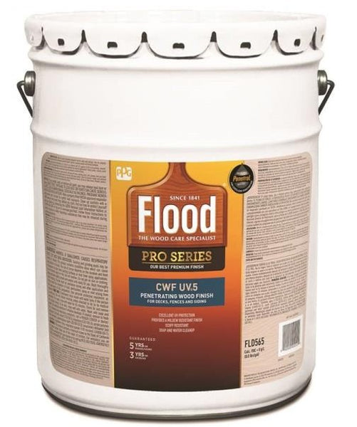 Flood FLD565-05 CWF-UV5 Pro-Series Exterior Wood Finish, Natural Base, 5 Gallon