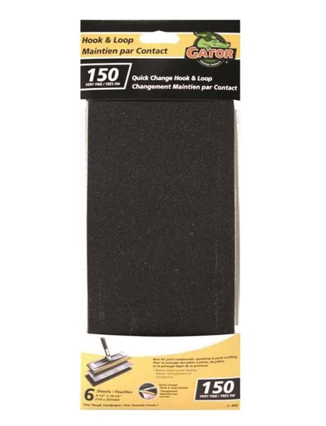Gator 8692-10 Hook and Loop Drywall Refill Sheet, 150 Grit