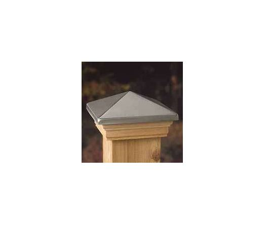 "Maine Ornamental 72332 Postcap Treated, 4"" x 4"", Stainless"