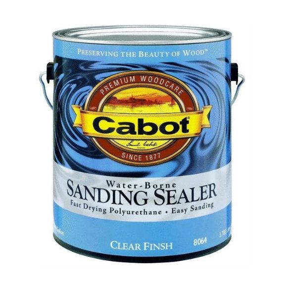 Cabot 8064 QT Water-Borne Sanding Sealer, 1 Quart, Clear