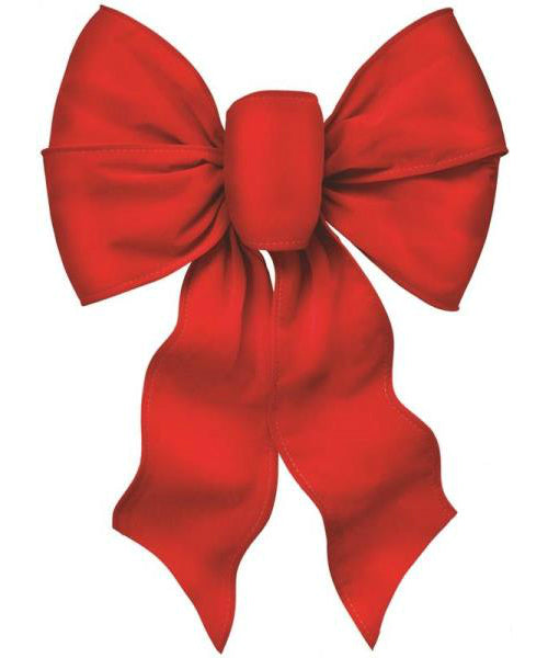 Holiday Trim 7371 7-Loop Christmas Bow, Red Velvet