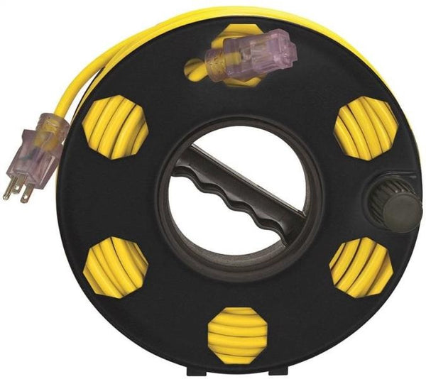 Power Zone ORCR2002 Plastic Cord Storage Reel, Black