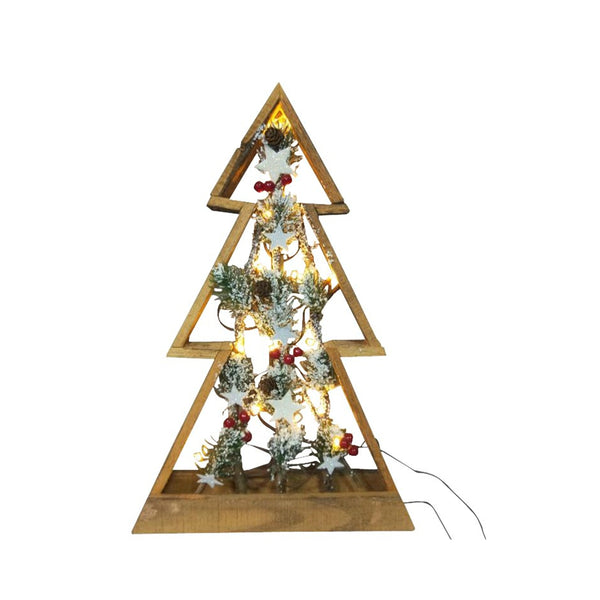 Santas Forest 58406 Christmas Wood Tree, Metal