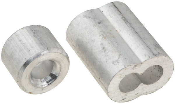 "National Hardware N830-353 Ferrule and Stop, Aluminum, 5/32""`"