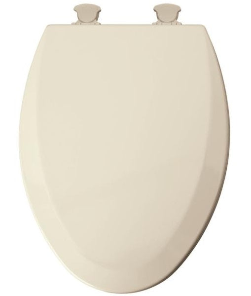 Mayfair 141EC-346 Elongated Molded Wood Toilet Seat w/Easy-Clean Hinges, Biscuit