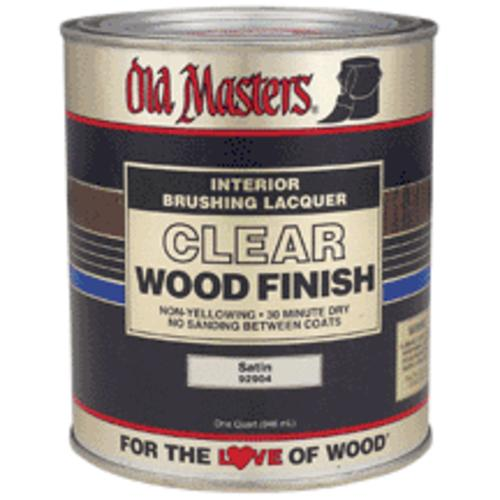 Old Masters 92904 Clear Wood, Satin, 1 Quart