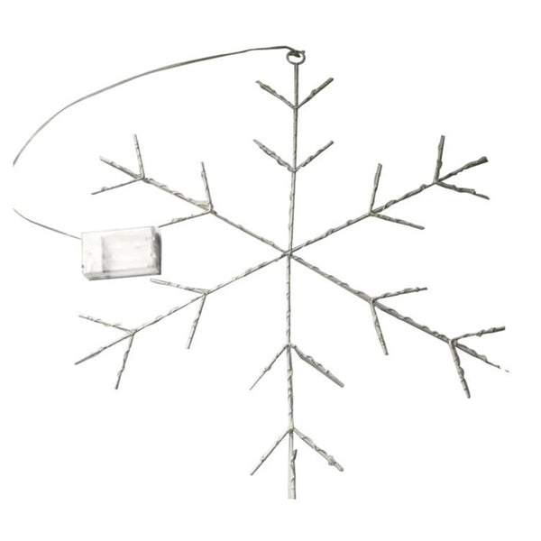 Santas Forest 48402 Snowflakes With Battery 2D Micro LED Lights