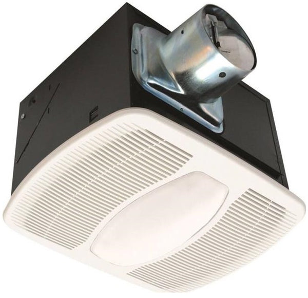 Air King AK100L Deluxe Quiet Exhaust Fan with Light & Night Light, 100 CFM
