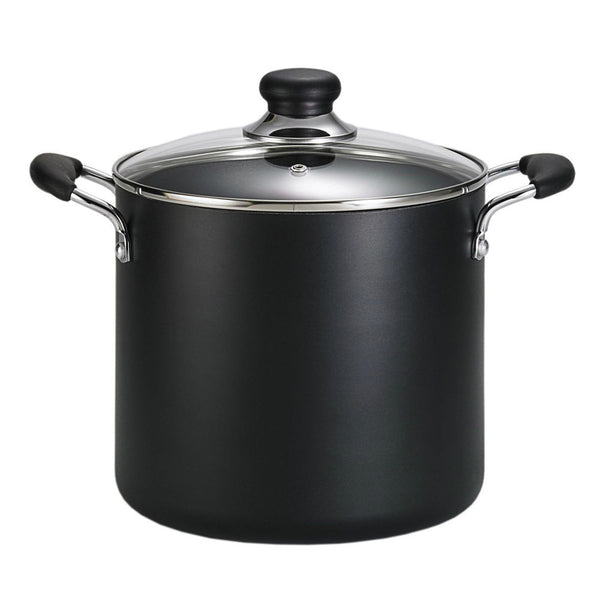 T-fal A9228064 Non-Stick Stock Pot, Black, 12 Quart
