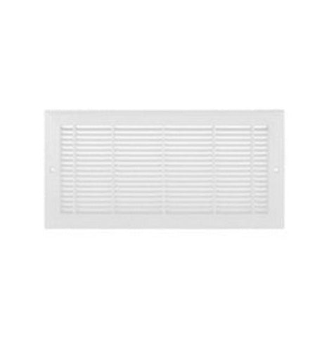 "Imperial RG3010 Plastic Sidewall Grill, White Finish, 12"" x 6"""