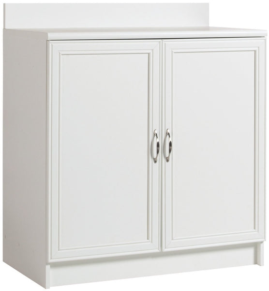 AkadaHOME ST103653A 2 Door Base Cabinet, White