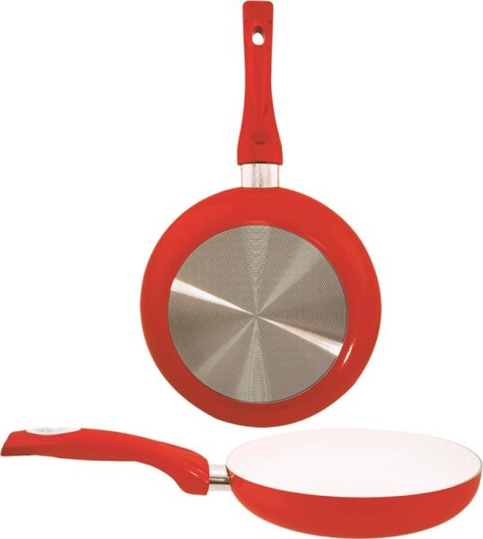Dura-Kleen 8124-RD Ceramic Fry Pan, Non-Stick, Red, 9.5""