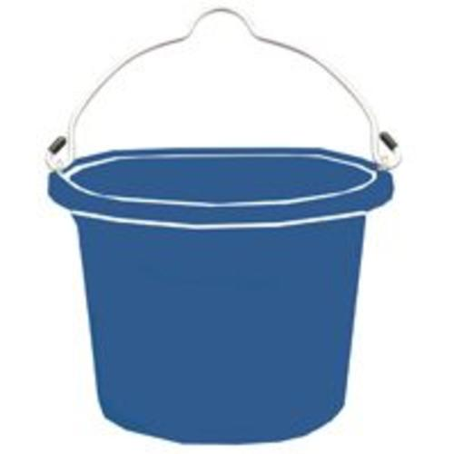 Fortex/Fortiflex FB108BL Heavy-Duty Flat Side Blue Bucket, 8 Quart