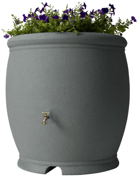 Algreen 85301 Barcelona Rain Barrel, 100 Gallon, CharcoalStone