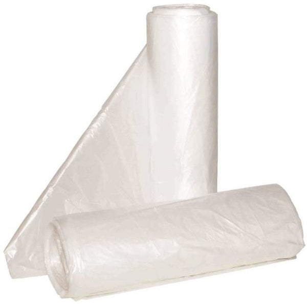 "Aluf Plastics HCR-243308C High Density HDPE Can Liner, Clear, 24""x33"", 12-16 Gal"