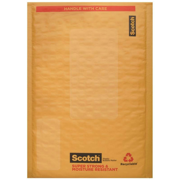"Scotch 8913-25 Cushioned Smart Mailer, Plastic, 6"" x 9"""