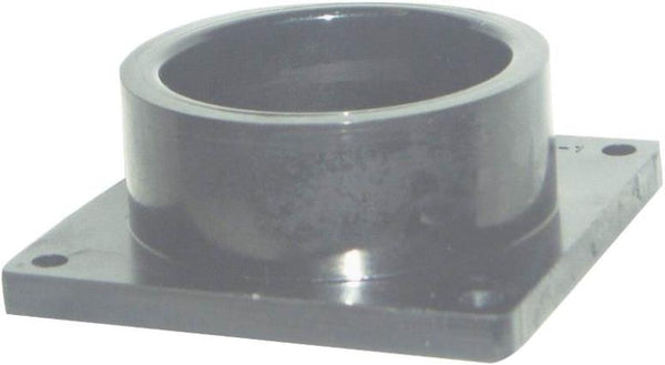 "United States Hardware RV-700C Slip Socket With Flange, 1-1/2"", Black Plastic"