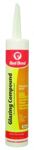 Red Devil 0666 Glazing Compound, 10.1 Oz, White