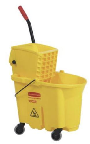 Rubbermaid 758088YEL Bucket And Wringer, 35 Quarts, Yellow