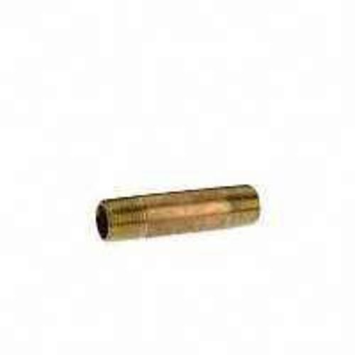 "Anderson Metals 38300-2020 Yellow Brass Nipple 1-1/4""X2"""
