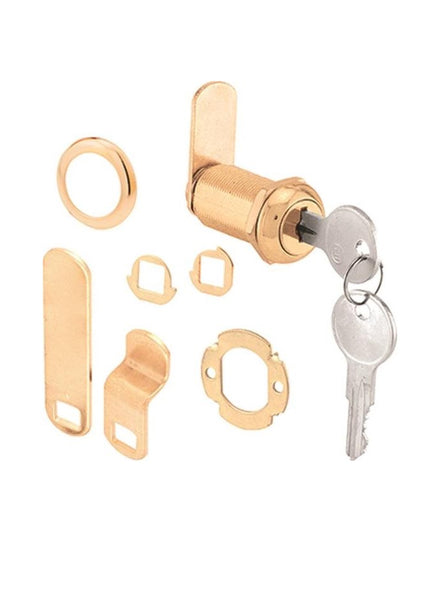 Prime-Line U 9953KA Drawer And Cabinet Lock, Brass
