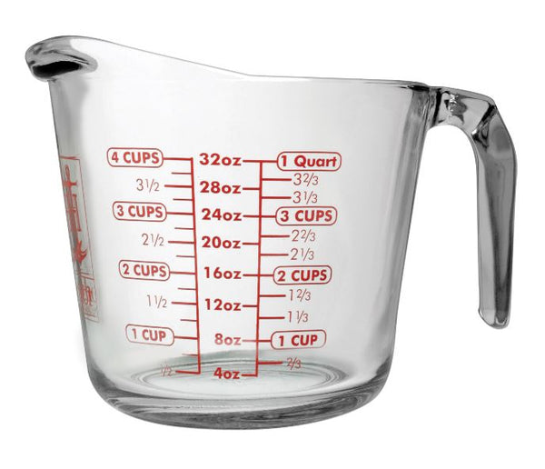 Anchor Hocking 4904 Measuring Cup, Glass, 32 Oz