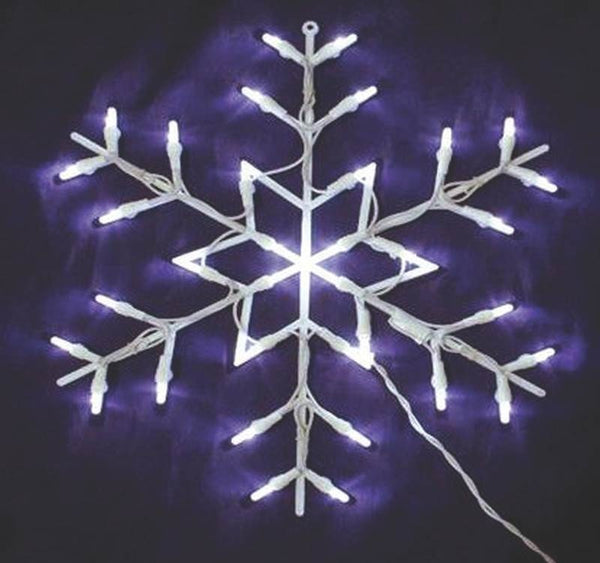 Santas Forest 19616 Christmas Lighted Window Decoration, Snowflake, 16""