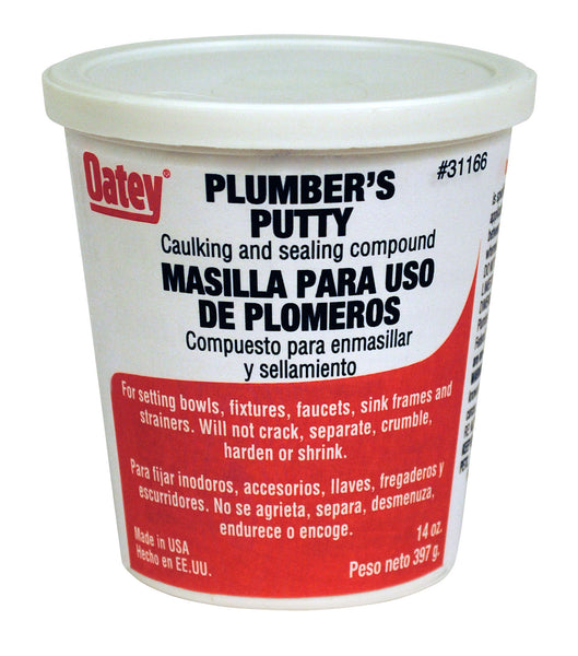 Oatey 31166 Plumber's Putty Caulking & Sealing Compound, 14 Oz.