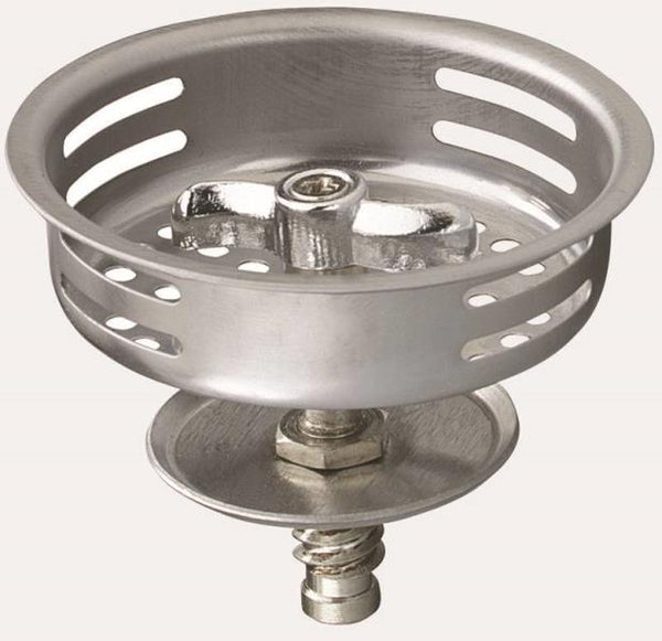 Plumb Pak PP820-34 Replacement Basket Strainer With Twist N Lock Post, Stainless Steel