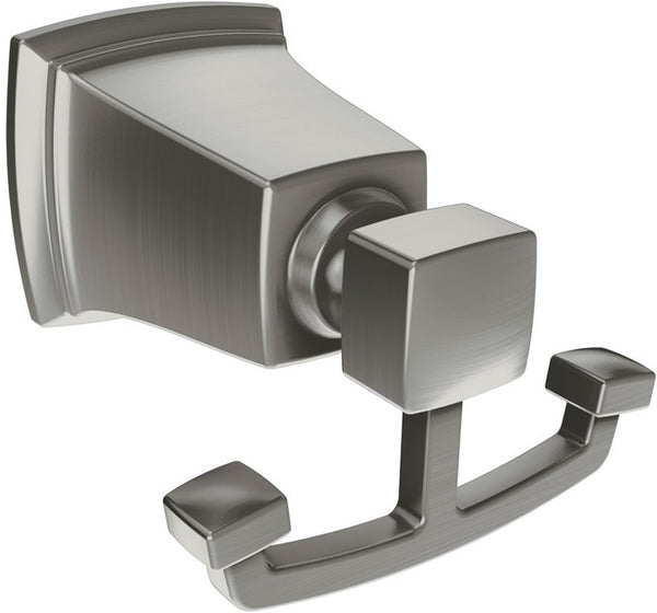 Moen Y3203BN Boadwalk Double Robe Hook, Brushed Nickel, 3-3/4""