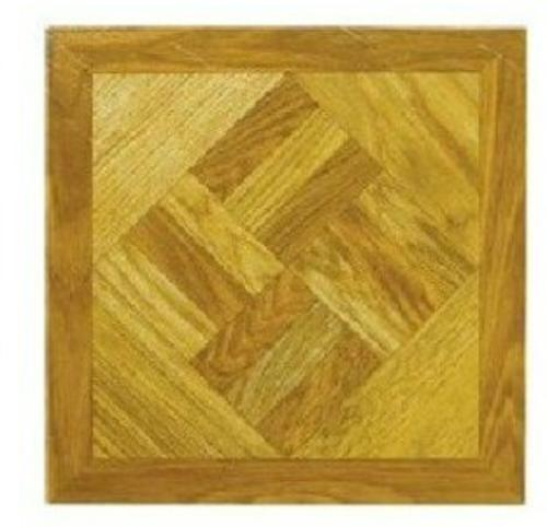 "Mintcraft ELE-1518-3L Vinyl Floor Tile Wood Geo 12""x12"""