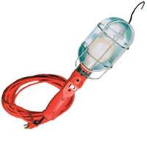 Coleman Cable 0681  Metal Grounded  Worklight, 18/3 X 25 Ft