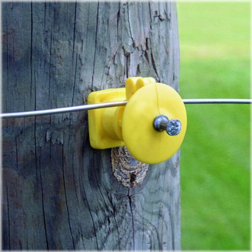 Fi-Shock IWKNY-FS Economy Insulator with Double-Headed Nail, Yellow