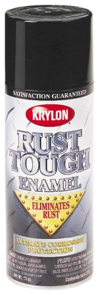 Krylon RTA9200 Rust Tough Spray Enamel, Gloss White, 12 Oz.