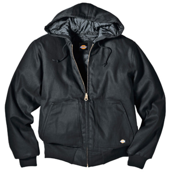 Dickies TJ718BKMD Rigid Duck Hooded Jacket, Black