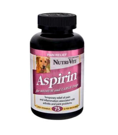 Nutri-Vet 12199-3 K-9 Aspirin For Large Dog
