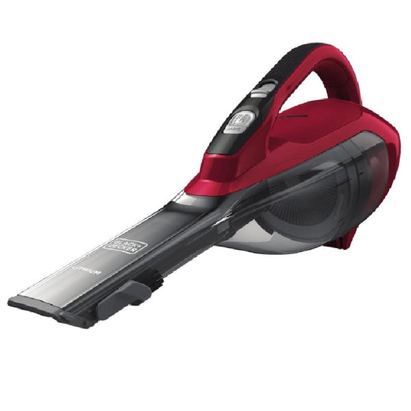 Black & Decker HLVA320J26 Cordless Lithium Hand Vacuum, Chili Red