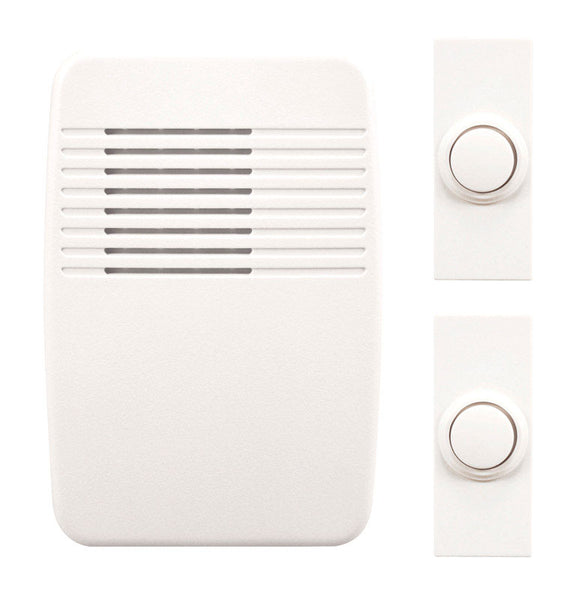Heath Zenith SL-7367-02 Wireless Door Chime Kit, White