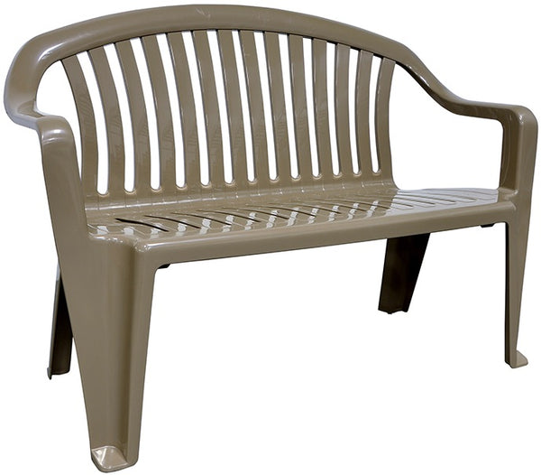 Adams 8365-96-3700 Resin Seating Bench, Portobello