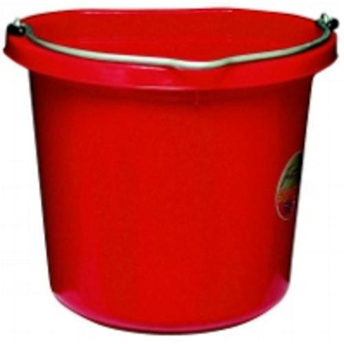 Fortex/Fortiflex FB-124 R Flat-Sided Red Bucket, 24 Quart