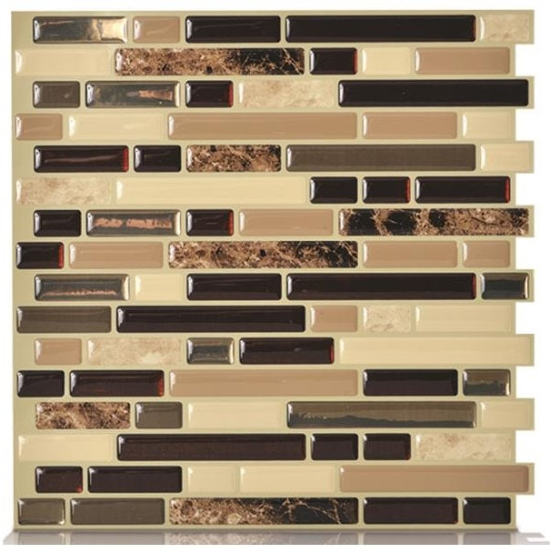Smart Tiles SM1034-1 Bellagio Adhesive Decorative Wall Tile, Keystone