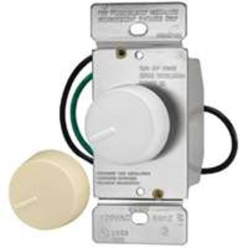 Cooper Wiring RI06P-VW-K2 Preset Rotary Incandescent Dimmer, 600W, Ivory/White